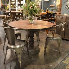 """French Soda Fountain Round Table 47"""" 