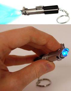 Star Wars Miniature Working Light Saber Key Ring