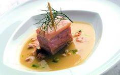 """""""Porchetta tonnata"""" dello chef Luigi Pomata del Ristorante Luigi Pomata di Cagliari  #lamadia #lamadiatravelfood #food"""