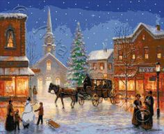 Christmas in Pleasantville cross stitch | Yiotas XStitch