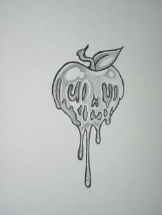 Poison Apple by ~shadowkeeper1327 on deviantART. Tattoo idea. Butt cheek?