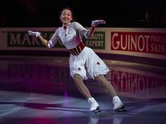 Mao Asada of Japan, who won 3rd place in the Ladies competition, performs during the exhibition program at the 2013 World Figure Skating Championships on March 17, 2013 in London, Ontario. Gold, silver and bronze medalists of the championships as well as invited skaters performed in the post-competition exhibition.