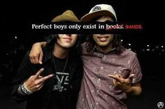 Both bands and books but yes