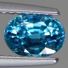1-68-Cts-FANTASTIC-RARE-NICE-LUSTROUS-NATURAL-BLUE-ZIRCON-OVAL-CAMBODIA-7X5-MM