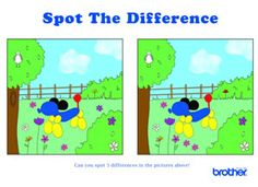 math worksheet : spot the difference puzzle for kids  school  pinterest  puzzles  : Spot The Difference Worksheets For Kindergarten