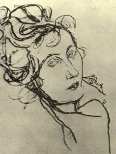 Egon Schiele, Edith Schiele on her Deathbed, 1918