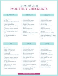 Free Intentional Living Monthly Checklists - Intentional By Grace Live Quotes For Him, Christian Living, Christian Women, Self Development, Personal Development, Simple Living, Self Improvement, Positive Quotes, Encouragement