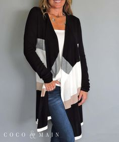 Color Block Cardigan - Coco and Main