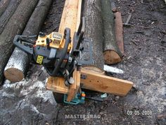How easier to dissolve the logs on board? - Photos - Page 6 - Forum Mastercity Homemade Chainsaw Mill, Chainsaw Mill Plans, Bandsaw Mill, Firewood Logs, Wood Mill, Tiny Cabins, Log Cabins, Diy Tools, Survival Skills