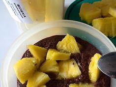 Frühstück beim Homeveganer: Chiapudding mit Obst und Schokolade