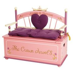 Princess Toy Box Bench. think i'm going to have to talk daddy into this one! NEED!!!!  Target.com