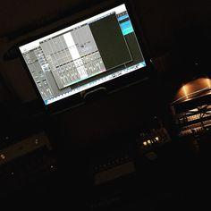 Late night in the studio! #studiolife  #ProTools #Logic #Urei #UniversalAudio #Apollo #AdamA7X #EmpiricalLabs #Distressor #1176 #1178 #vintageonly #miktekC73