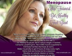 The Great Awakening – Menopause  Natural health suggestion about dealing with menopause!