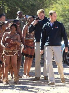 Prince William - Prince William And Harry Visit Botswana - Day 2