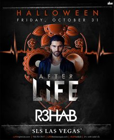 Celebrate Halloween Weekend in Las Vegas with R3Hab as he spins LIVE inside LiFE Nightclub at SLS Las Vegas on Friday, October 31st.