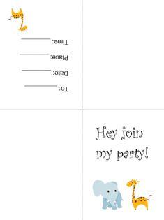 Free Printable Card Invitations Free Printable Invitations, Free Printable Gift Tags, Diy Invitations, Printable Paper, Party Printables, Invitation Cards, Free Printables, Invites, Lion Party