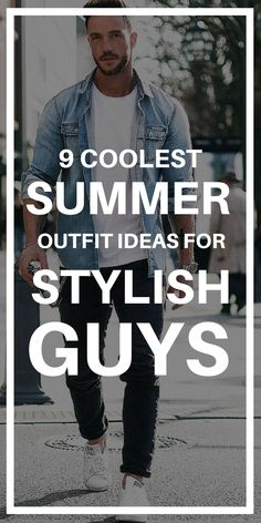 Want to look STYLISH this summer? Try these awesome summer outfit ideas for guys. #mens #fashion #outfitideas #summer