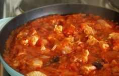 Portuguese Chicken with Tomato Sauce Recipe