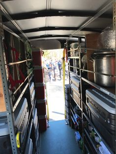 In Troop 101, the patrol method isn't just part of campouts. It's part of the trailer, too. The trailer is a 6-foot-by-12-foot masterpiece of organization.