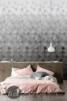 Self adhesive removable wallpaper, wall decal. From modern geometrics, to feminine florals, get inspired by these ZE WALLPAPER ideas! Design