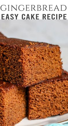 Take a bite of Christmas with this Easy Gingerbread Cake. It's a small homemade … Take a bite of Christmas with this Easy Gingerbread Cake. It's a small homemade cake with the best gingerbread flavor. Leave plain or top with frosting. Easy Gingerbread Recipe, Gingerbread Cake, Gingerbread Houses, Easy Christmas Cake Recipe, Homemade Cake Recipes, Best Cake Recipes, Homemade Breads, Cookie Recipes, Molasses Cake