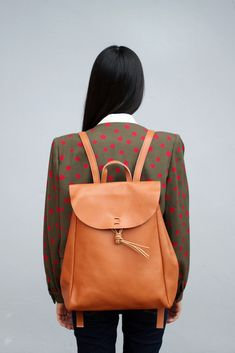 Vintage Style Hand Made Leather Backpack - Want to save 50% - 90% on women's fashion? Visit http://www.ilovesavingcash.com