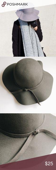 Grey Felt Floppy Boho Hippie Hat Grey Felt Floppy Boho Hippie Hat. Worn once! ASOS Accessories Hats