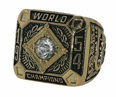 April 26, 2014 San Francisco Giants vs. Indians - 1954 Replica World Series Ring