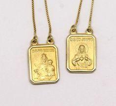 Escapulário Ouro Amarelo 18k 750