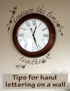 Tips for hand lettering on a wall with success! • AtopSerenityHill.com #mural #lettering