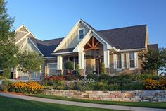 Craftsman Style House Plan - 3 Beds 2.5 Baths 3138 Sq/Ft Plan #51-450 Exterior - Front Elevation - Houseplans.com