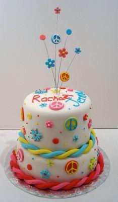 ... lindsey on Pinterest  Peace cake, Softball and Round birthday cakes