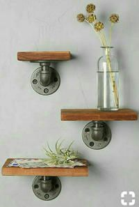 three brown wooden wall mounted shelf set in West Hollywood - letgo