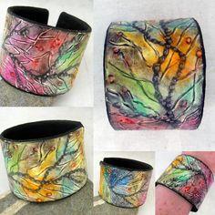 Seagrass-In the Mermaids World | polymer clay cuff bracelet by Margit Bohmer