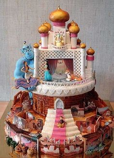 A magic genie was definitely needed to make this intricate cake.