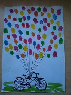 Hand painting for kids Preschool Crafts, Fun Crafts, Diy And Crafts, Crafts For Kids, Arts And Crafts, Paper Crafts, Thumb Painting, Painting For Kids, Art For Kids