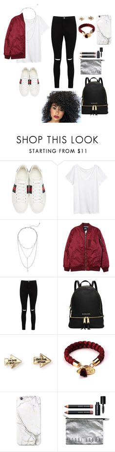 """Untitled #659"" by qwert123456 ❤ liked on Polyvore featuring Gucci, Steve Madden, Stussy, Boohoo, Michael Kors, Aéropostale, russell+hazel and Bobbi Brown Cosmetics"