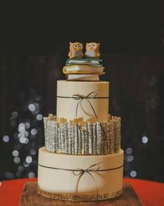 15 Geeky Wedding Cakes for All the Book Lovers Out There via Brit + Co
