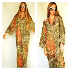 Resort Maxi Tunic Dress India Indian Embroidered by newagegypsy, $30.00