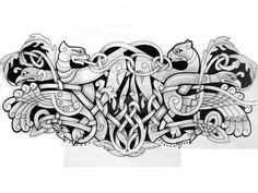 (so much better than barbed wire - p.mc.n.) Zoomorphic  arm band by knotty-inks.deviantart.com on @deviantART