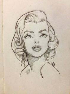 Marilyn Monroe Art. Looks a little like Tinker Bell.