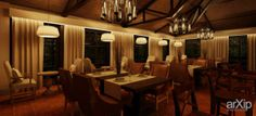 Терраса ресторана ЮРЛА: интерьер, шале, ресторан, кафе, бар, балкон, лоджия, терраса, 30 - 50 м2 #interiordesign #shale #restaurant #cafeandbar #balcony #loggia #terrace #30_50m2 arXip.com