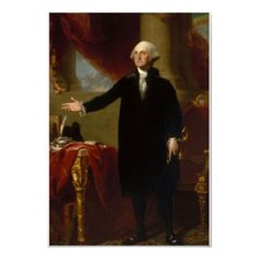 President George Washington - This is the portrait that Dolley Madison saved from the White House during the war of 1812.