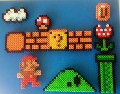 Perler bead mario ideas perler,hama,square pegboard,video games,nintendo,mario,