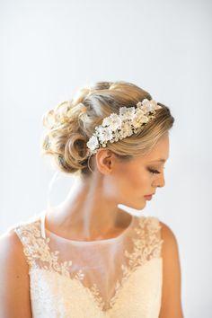 Casque, accessoire de cheveux de mariée, mariée ruban serre-tête de mariage