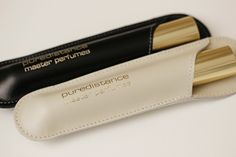 Puredistance Master Perfumes - Black and Ivory leather holders