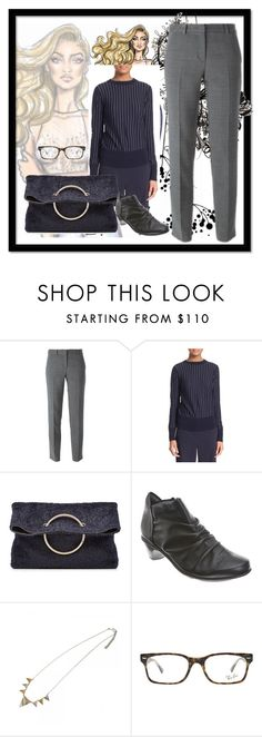 """""""9 to 5"""" by peeweevaaz ❤ liked on Polyvore featuring DKNY, Victoria Beckham, Naot, Ray-Ban, women's clothing, women, female, woman, misses and juniors"""