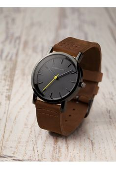 Watch with leather detail// | Raddest Looks On The Internet: http://www.raddestlooks.net