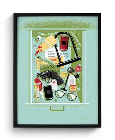 Walter White's Junk Drawer// Matt Stevens: Junk Drawer / on Design Work Life
