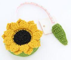 Lantern Moon SUNFLOWER TAPE MEASURE for Knitting Crochet Needlework